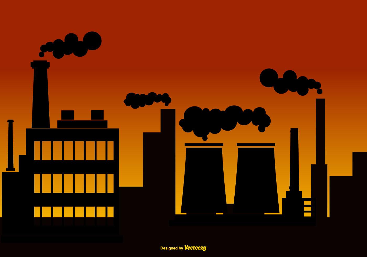 Vector Illustration Web Designs: Smoke Stack Background Illustration