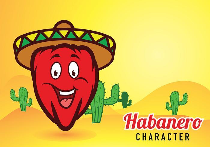 Habanero Mascot Vector