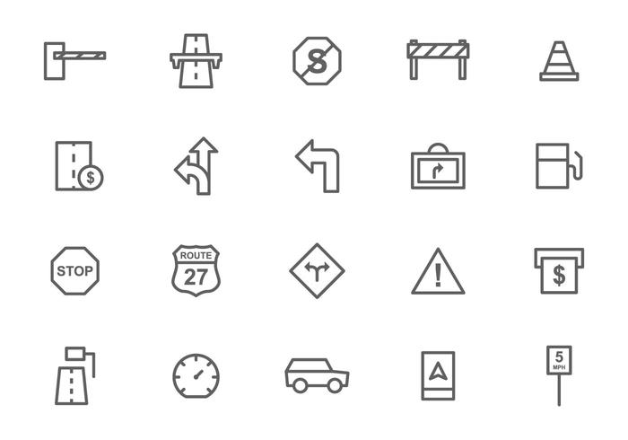 Free Toll and Traffic Sign Vectors