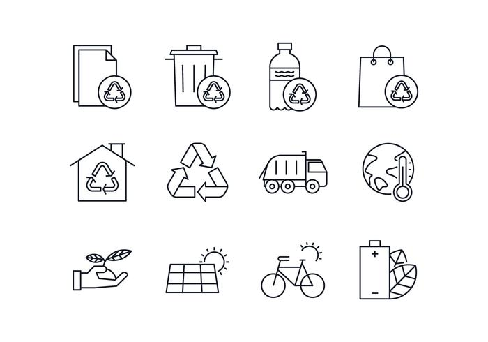Free Environmental & Waste Management Icon Set