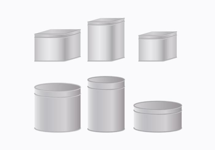 Coleção de caixa de lata