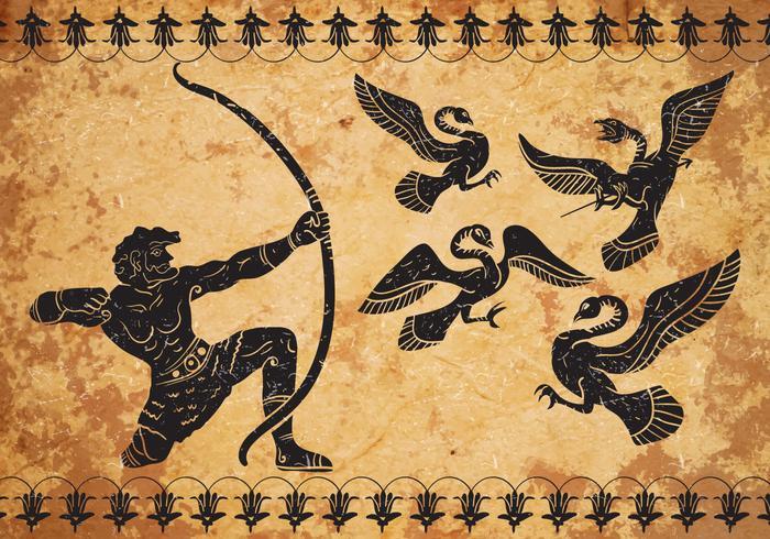 Ancient Hercules Vector Background