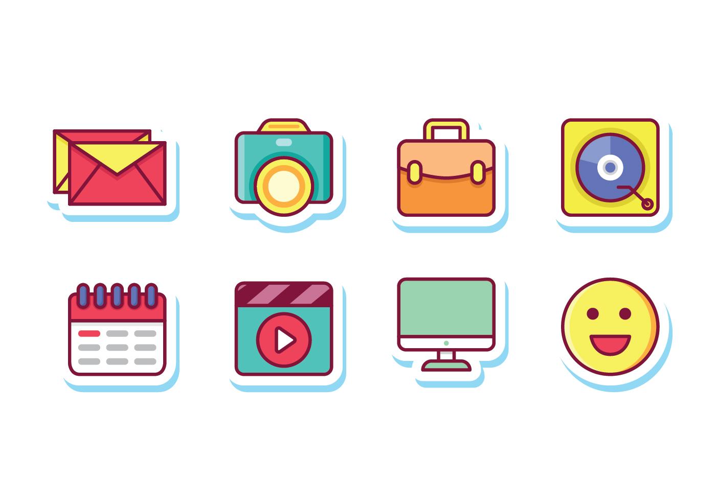 Social Media Sticker Icons - Download Free Vector Art ...