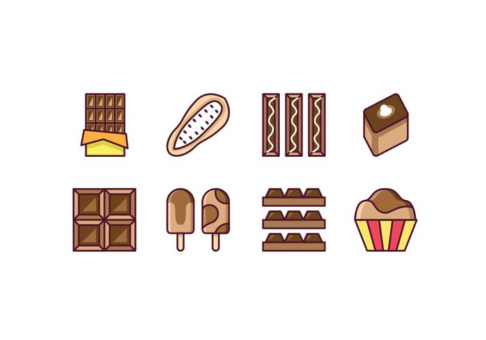Gratis Chocolade Icon Set vector
