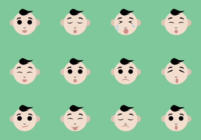 Baby Facial Expression Vectors