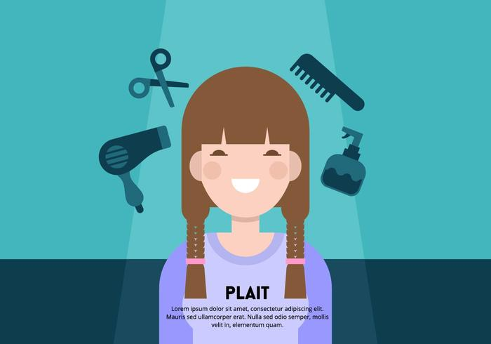 Girl with Plait Background