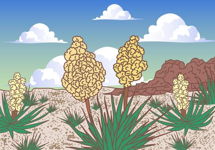 Desert Yucca Scene Vector