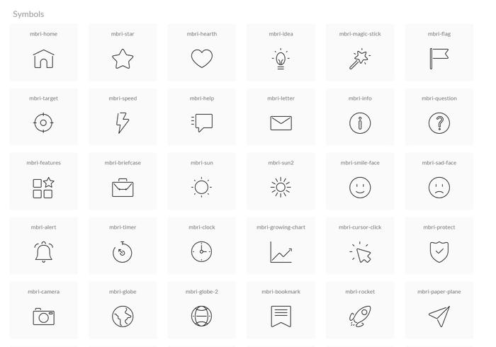 Mobirise Free Icons Pack 1