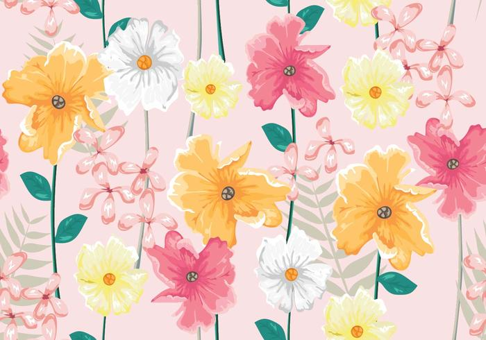Ditsy Realist Seamless Pattern Vector