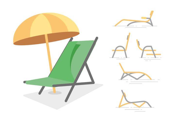 Free Unique Lawn Chair Vectors