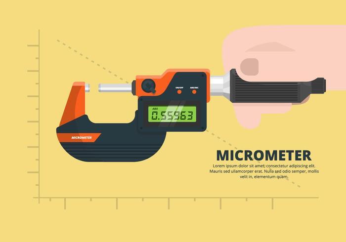 Micrometer Illustration