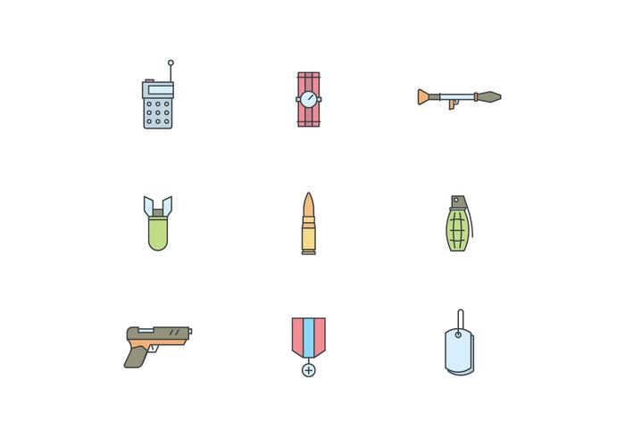 Simple Military Icons