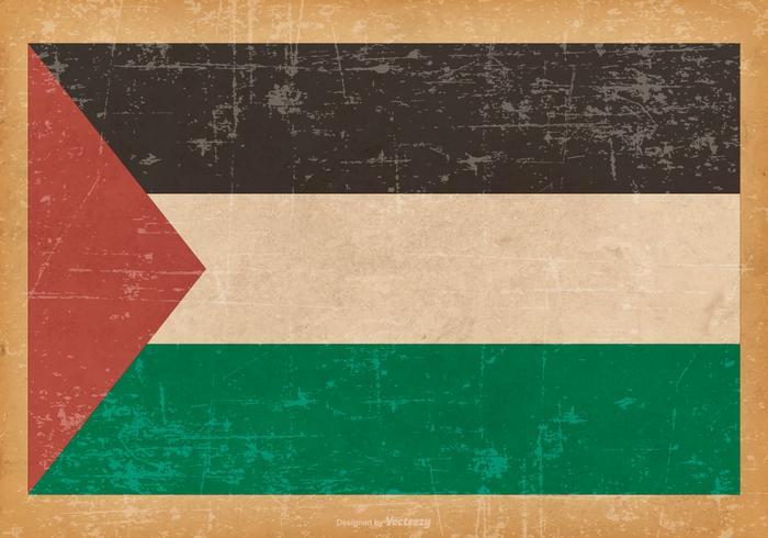 Grunge Bandera de Palestina