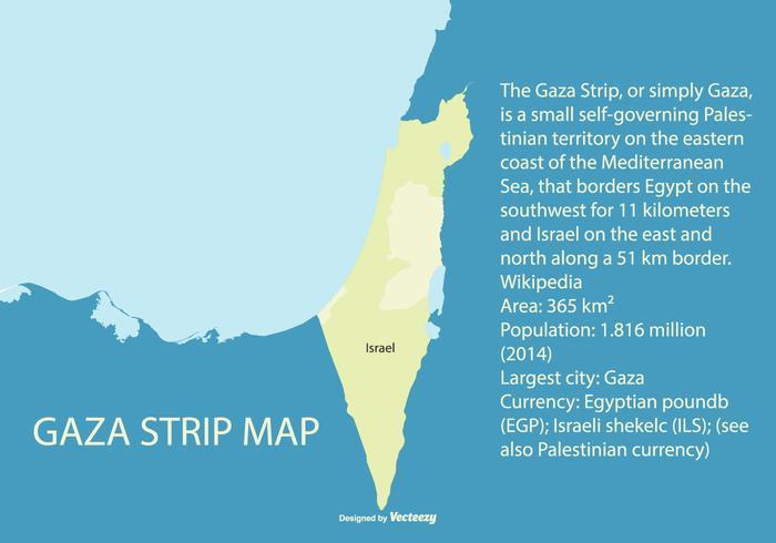 Map of Palestine Highliting the Gaza Strip