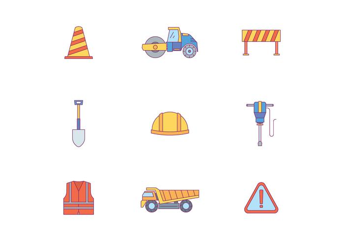 Road Work Pictogrammen