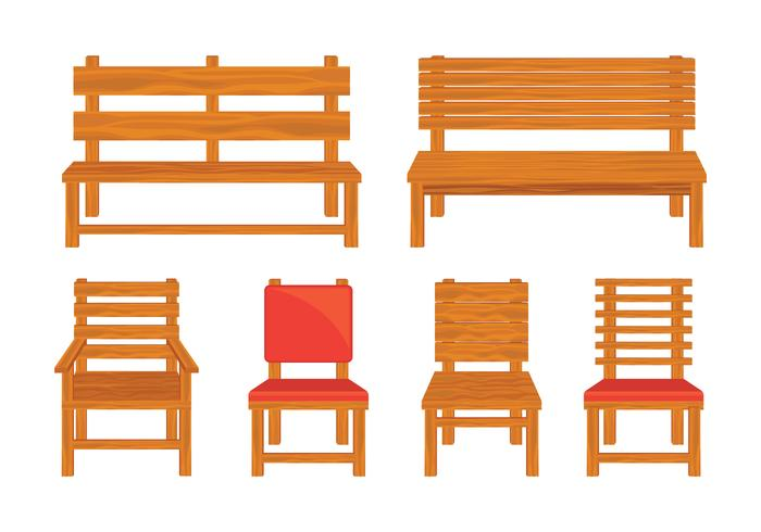 Wooden Lawn Chair Vectors