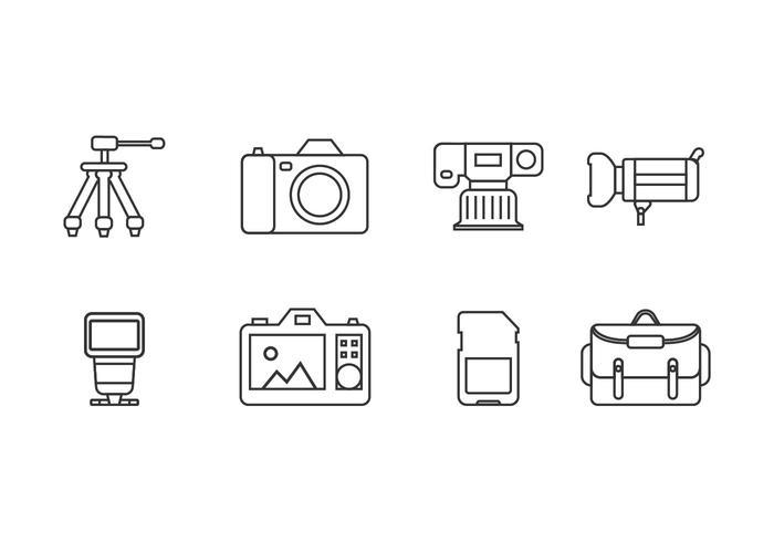 Icônes d'outils de photographie