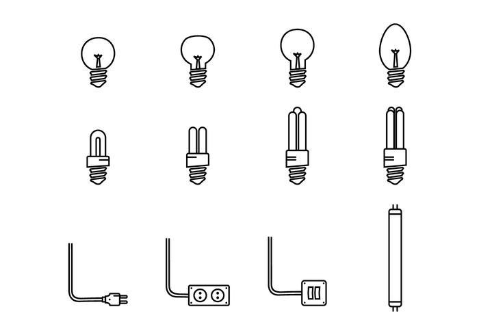 Icono de luces led