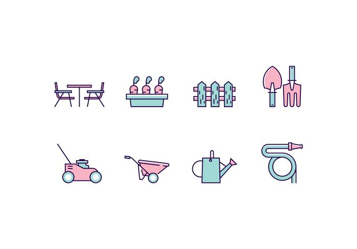 Lawn And Garden Icon Set