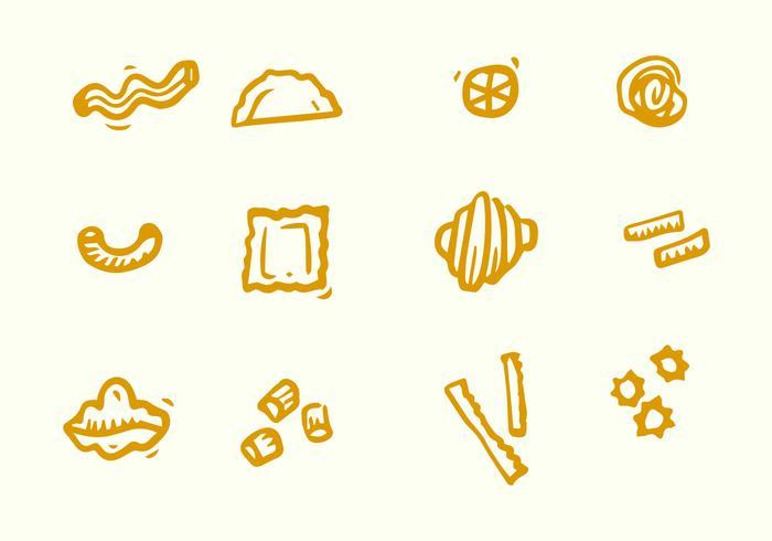 Varias Pasta Icono vector