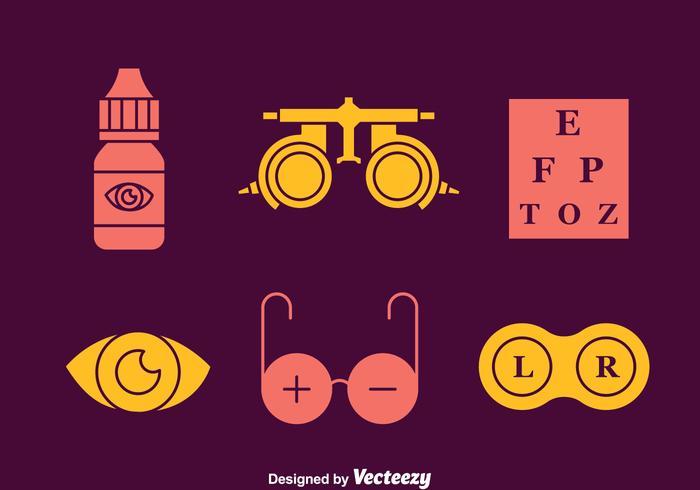 Optical Element Icons Vectors