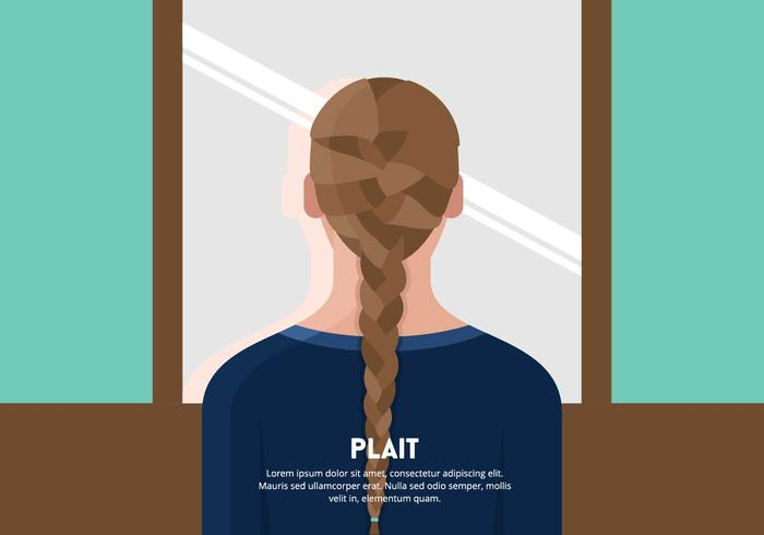 Girl with Braid or Plait Background