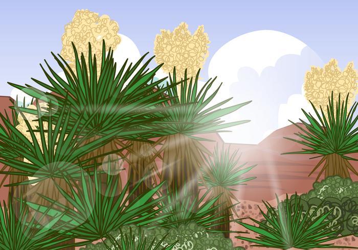 Yucca Desert Scene Vector