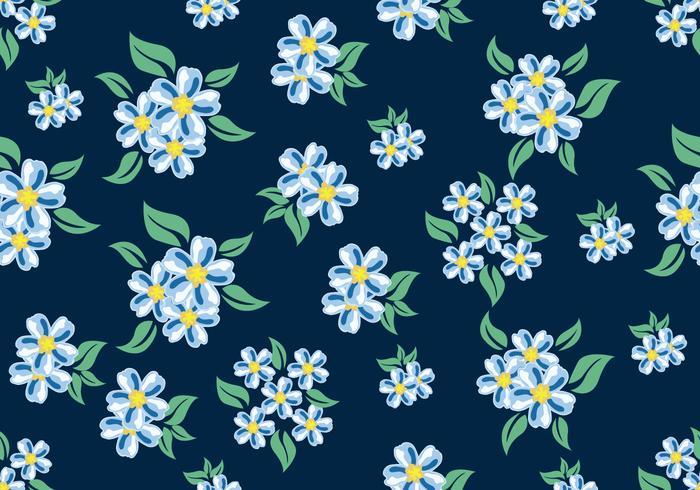 Ditsy patrón floral sin costuras