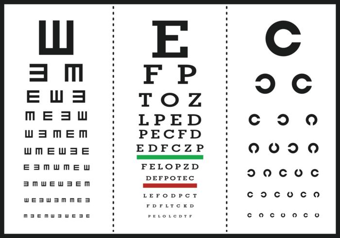 Eye Test Letter Poster Vectors
