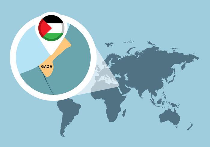 Mapa da Palestina