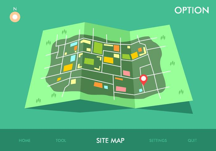 Site Map Game Option Free Vector