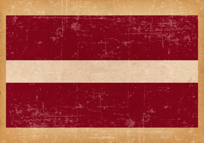 Grunge Flag of Latvia