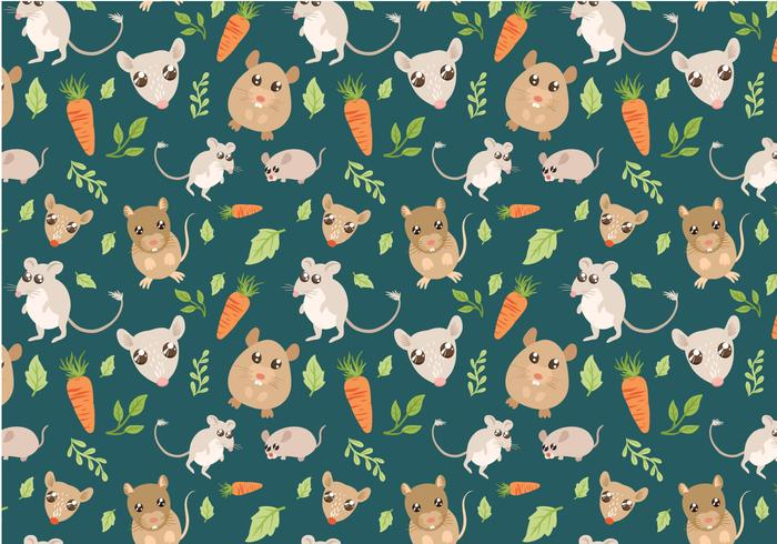 Free Small Pets Pattern Vectors