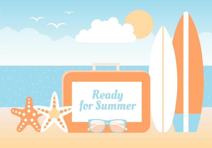 Summer Beach Elements Background