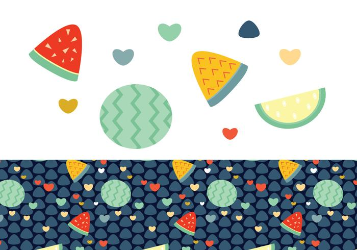 Ditsy Watermelon Background Vector