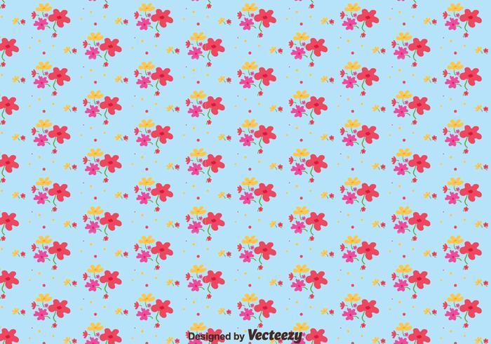 Blomma ditsy tryckmönster vektor