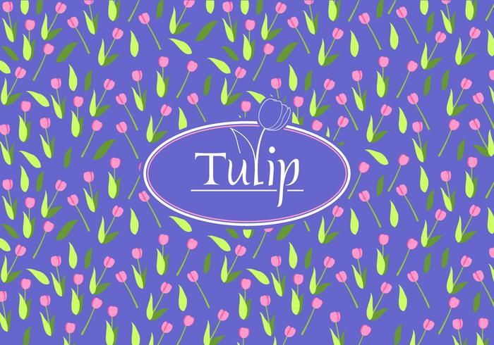Tulip Disty Pattern Vector