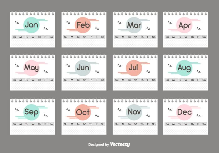 Desktop Calendar Set