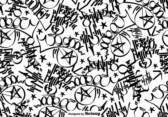 Vector Graffiti Tags Seamless Pattern