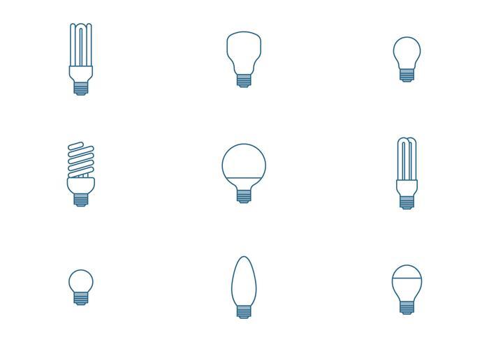 Icone della lampadina vettore