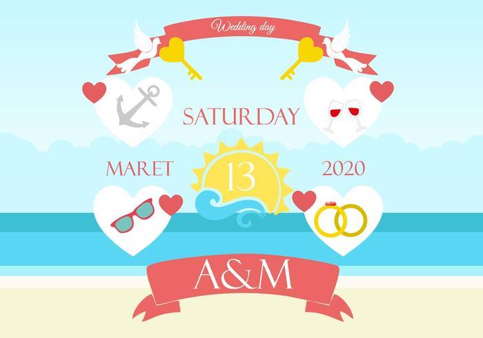 Free Beach Wedding Background Invitation