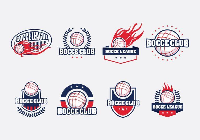 Bocce Badge Set