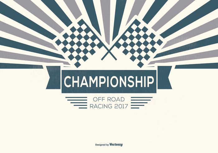 Retro Offroad Racing Hintergrund