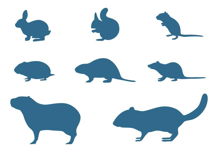 Rodents Silhouettes Collection