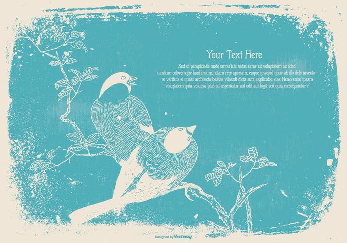 Vintage Bird Text Template