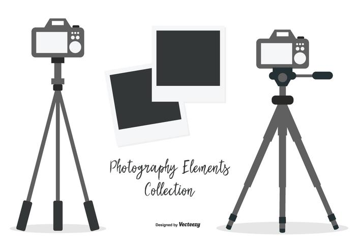 Vector Tripod with Cameras Collection