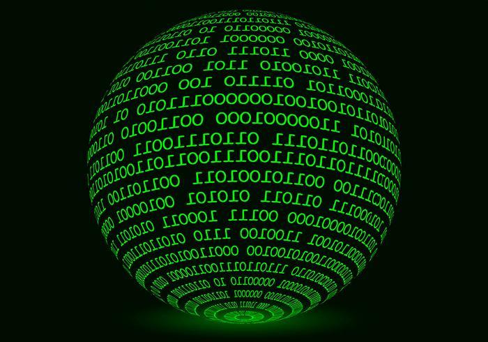 Gloeiende Sphere Matrix Achtergrond Vector