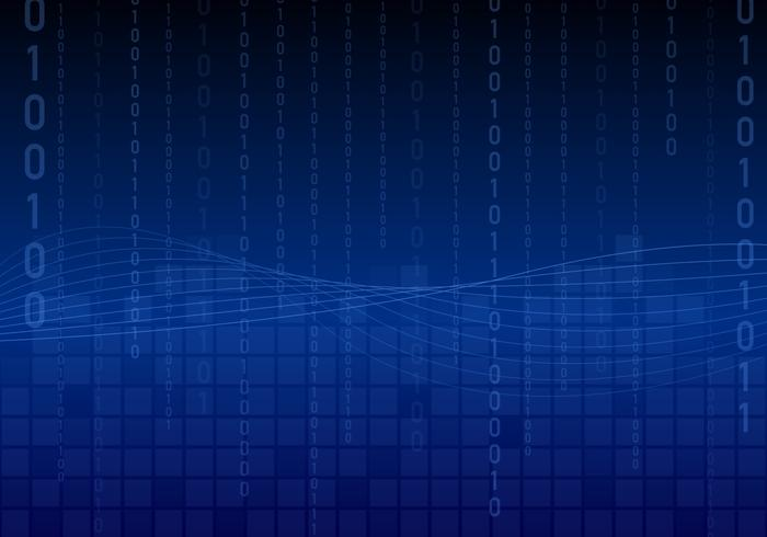 Wave Matrix Background Vector