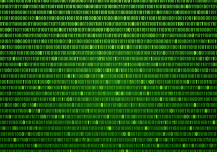 Vector Green Matrix Background