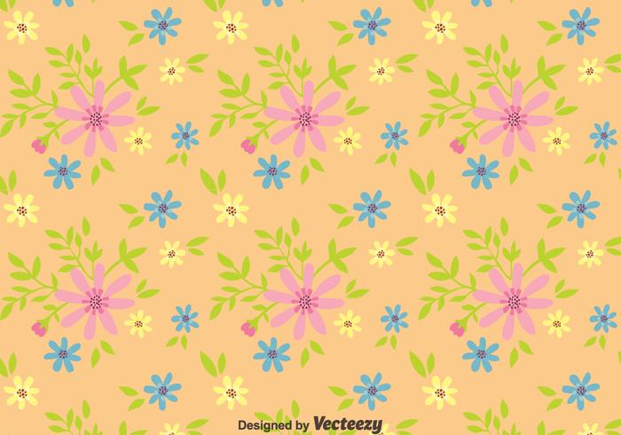 Ditsy Floral Seamless Pattern Vector